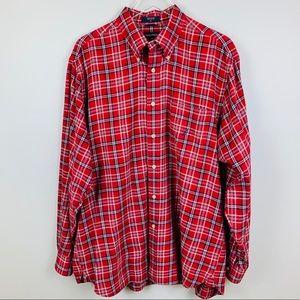 Nautica Light Weight Plaid Flannel Shirt, L